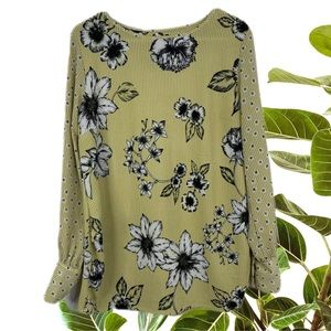 Next Maternity Yellow Striped Floral Top Size 10